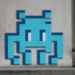 Street art invader Paris